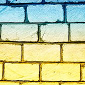stock photo of cinder block  - Full Frame Cinder Block Brick Wall with Rough Texture - JPG