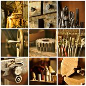 Old Machine Shop Collage