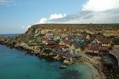 image of popeye  - Film set of Pompeye village in Malta - JPG
