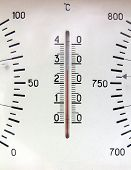 picture of barometer  - old russian barometer fragment closeup - JPG