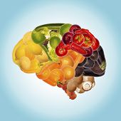 stock photo of tropical food  - a healthy nutrition is good for brain - JPG