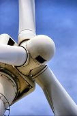 stock photo of wind wheel  - A close up of a big wind wheel - JPG