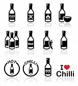 stock photo of collate  - Vector icons set of chili - JPG