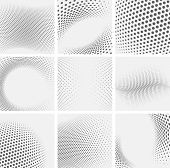 image of dots  - Set of dotted abstract forms - JPG