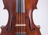 pic of viola  - Viola instrument with sheet music background vintage - JPG