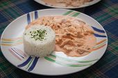 image of brazilian food  - strogonoff tipical brazilian cousine rice and sauce - JPG