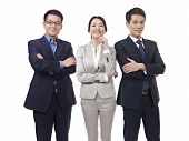 picture of rep  - studio portrait of an asian business team.