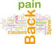 image of hernia  - Word cloud concept illustration of back pain - JPG