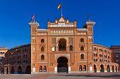 stock photo of bullfighting  - Famous bullfighting arena in Ventas Plaza  - JPG