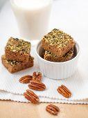 pic of pecan  - Home made pumpkin paleo brownies with pecans - JPG