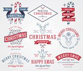 foto of rudolph  - Vector christmas badges and labels for any use - JPG
