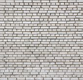 stock photo of arriere-plan  - Aged white brick wall seamless texture - JPG