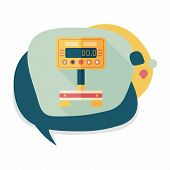 pic of scale  - Weight scale flat icon with long shadowWeight scale flat icon with long shadow - JPG
