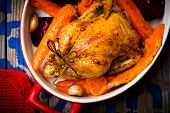 picture of root-crops  - The chicken baked with root crops - JPG