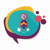 image of chinese crackers  - Chinese New Year Flat Icon - JPG