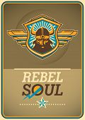 picture of soul  - Rebel soul poster with viking coat of arms - JPG