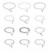 image of elliptical  - Elliptic speech bubble for comics and other use - JPG
