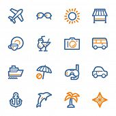foto of transportation icons  - Vacation web icons set - JPG
