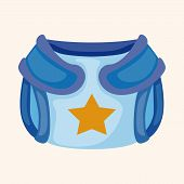 image of diaper  - baby diaper them elements - JPG