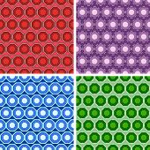 stock photo of octagon  - seamless colored octagon pattern set in different colors - JPG