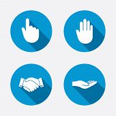 picture of signs  - Hand icons - JPG