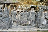 foto of gunung  - Yeh Pulu is a famous carved cliff face dating back to the 15th century depicting daily scenes in Ubud - JPG