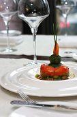 stock photo of lenten  - Vegetarian creative food in luxurious restaurant  - JPG