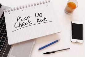 stock photo of plan-do-check-act  - Plan Do Check Act  - JPG