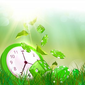 image of time-saving  - Time and casino concept - JPG