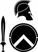 picture of spartan  - spartans helmet - JPG