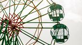 pic of ferris-wheel  - Ferris wheel under construction ready for canival - JPG