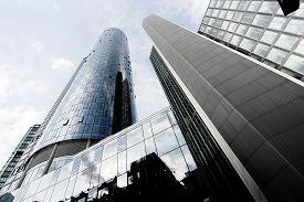 stock photo of frankfurt am main  - Modern architecture in Frankfurt am Main Germany Europe - JPG
