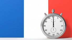 pic of chronometer  - Flag of France with chronometer - JPG