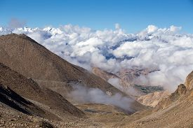pic of himachal  - Himalayan landscape in Himalayas along Manali - JPG