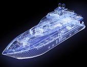 Постер, плакат: 3D модель яхты