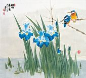 picture of abstract painting  - Asian Traditional Painting - JPG