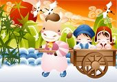stock photo of ox wagon  - New Year Concept - JPG