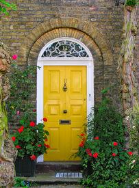 picture of front door  - Traditional English victorian front door - JPG