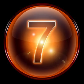 picture of number 7  - number seven icon - JPG