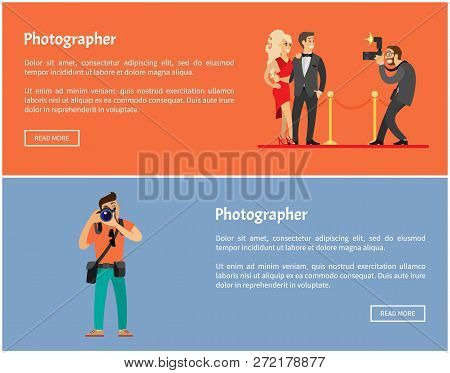 Paparazzi And Photographer Online Banners