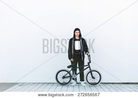 Stylish Young Rider With Bmx