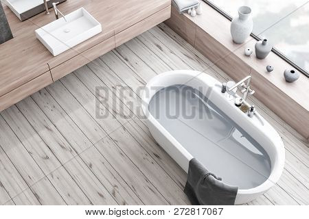 Top View Of Wooden Floor