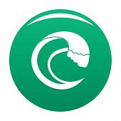 Wave Aqua Icon. Simple Illustration Of Wave Aqua Vector Icon For Any Design Green poster