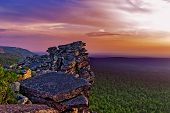 Rocks On The Top Of The Mountain In The Russian Taiga poster