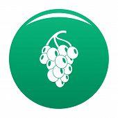 Dark Grape Icon. Simple Illustration Of Grape Grape Icon For Any Design Green poster
