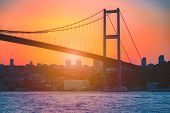 The Bosphorus Bridge Known Officially As The 15 July Martyrs Bridge Is One Of The Three Suspension B poster