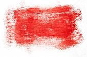 Red watercolor brush strokes