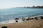 View Along The Coastline With Hotels Lining The Promenade, Fuengirola, Costa Del Sol, Andalusia, Spa poster
