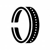 Bracelet Or Cuff, Jewelry Icon, Glyph Style poster