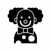 Scary Clown Or Joker, Halloween Character Icon poster